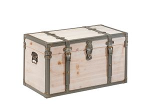 Truhe Schatztruhe TUPAI aus Holz Kalkweiß - 70x35x38 cm