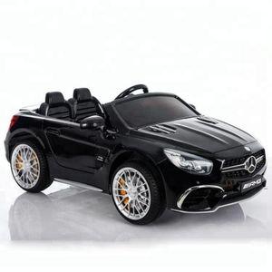 Mercedes Benz Sl65 Amg Kinder Elektro Auto Fahrzeug Kinderauto Mp3 Aux Usb, Farbe:Schwarz