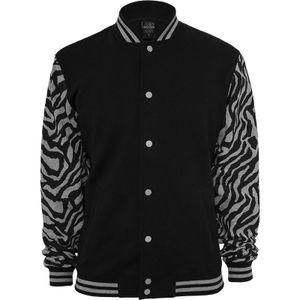 Urban Classics 2-tone Zebra College Jacket, Farbe:gry/blk, Größe:XXL