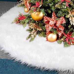 Baumdecke Unterlage Decke Tannenbaum Christbaumdecke Ø 80 cm, weiß Weiss - Weihnachtsbaumdecke Unterlage für Tannenbaum, Weihnachtsbaum
