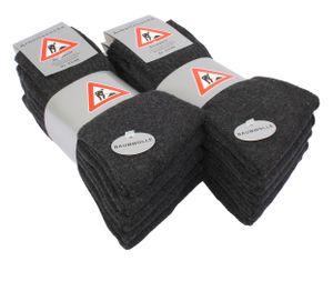 VCA® Baumwoll Socken 10 Paar Berufssocken Anthrazit 43-46