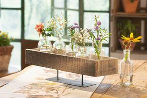 Vase 'Solid', 6er Set Gefäß Dekoration Tisch Deko Blumen zeitlos