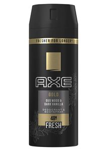 6x Axe Gold Deospray Oud Wood & Dark Vanilla Deodorant je 150ml 48H Frische