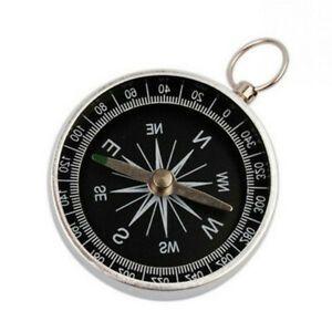 Metall Kompass Ø 4,3 cm Outdoor Camping Wandern Reisen Karten Schule Anhänger