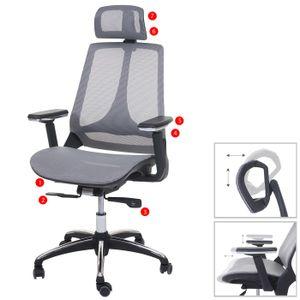 Bürostuhl HWC-A59, Schreibtischstuhl, Sliding-Funktion Stoff/Textil ISO9001  grau/grau