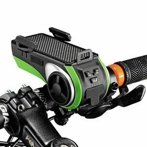ROCKBROS Bluetooth Fahrrad Klingel Lenker Mit Handy Halterung Minilautsprecher Schwarz