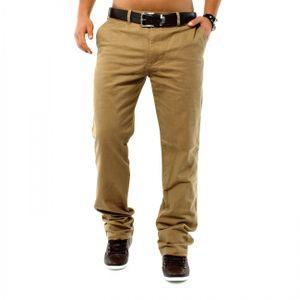 Herren Elegante Chino Jeans 5 Pocket Hose Locker Regular Fit Baumwolle , Größen:36W, Farben:Beige