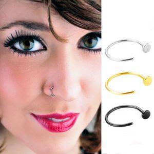 Augenbrauen Septum Piercing, Lippenpiercing, Nasen Ring, 3er Set, Edelstahl Ringe Mehrfarbig Schmuck wie beschrieben