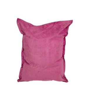Lumaland Luxury Riesensitzsack XXL Microvelours Sitzsack 380l Füllung 140 x 180 cm Indoor Pink