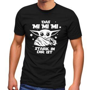 Herren T-Shirt Parodie Spruch Das mi mi mi stark in dir ist Fun-Shirt Moonworks® schwarz XL