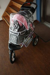 InnoPet® Raincover universal Regenhaube für Hundebuggy Pet Stroller Regenschutz für Buggy Regenverdeck transparent