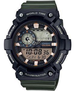 Casio Herren-Armbanduhr Analog/Digital Quarz mit Resin Armband AEQ-200W-3AVEF