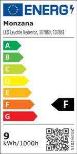 monzana® LED Unterbauleuchte Lichtleiste Unterbauleiste Küchenleuchte Küchenlampe, Größe:2er Set - 54cm