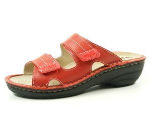 Rohde 5777-40 Mainz Schuhe Damen Pantoletten Wechselfußbett Weite G , Größe:40 EU, Farbe:Rot