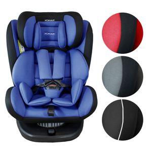 XOMAX 916 Auto Kindersitz mit 360° Drehfunktion und ISOFIX für Kinder von 0 - 36 kg (Klasse 0, I, II, III) Farbe Schwarz/Blau