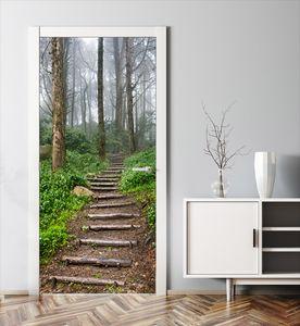 MyMAXXI | Tür verschönern mit Türtapete Selbstklebend 90x200 Waldweg | Türfolie Poster Tapete | Selbstklebende Türaufkleber XXL Aufkleber Folie| Türposter Mädchen und Junge