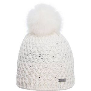 Eisglut Damen Bommel Mütze Soraya Crystal weiß