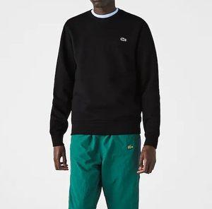 Herren Lacoste Pullover Sweatshirt Stickerei klein Logo  Langarm schwarz  Größe L Gr.5