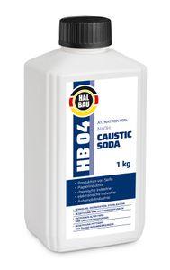 1kg HB04  Ätznatron, kaustisches Soda NaOH, Natriumhydroxid sichere Verpackung D+D-V Flasche