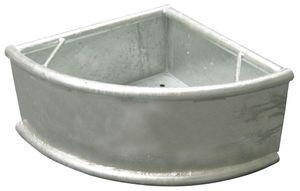 Verzinkter Dreieck-Trog 35 Liter feuerverzinkt mit Ablaufstopfen 15 mm