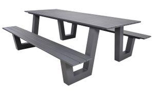 Picknick-Set Breeze anthrazit 220x184x74,5 cm 2 Bänke mit Tisch
