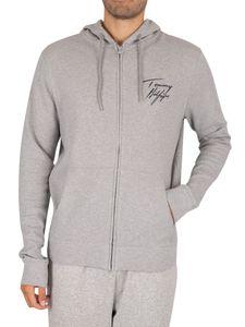 Tommy Hilfiger Herren Lounge Zip Hoodie, Grau XL