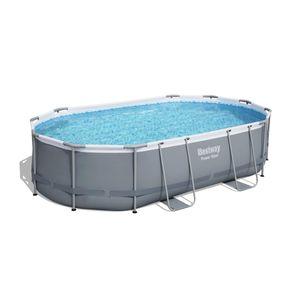 Bestway Power Steel™ Frame Pool Komplett-Set, oval, 488x305x107cm, 56448