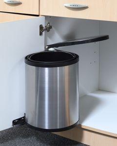 Einbau Mülleimer zur Montage im Küchenschrank - 12 Liter