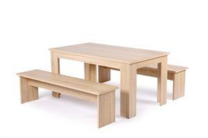 Intertrade  Set 3-tlg (Tischgruppe) Sonoma Eiche; 001031