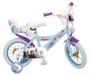 14 Zoll Kinder Mädchen Fahrrad Kinderfahrrad Mädchenfahrrad Rad Disney Elsa Frozen die Eiskönigin II Toimsa