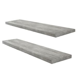 Wandboard Steckboard Wandregal Hängeregal 2er-Set 0521_90 Beton0 Grau Optik 90 cm breit