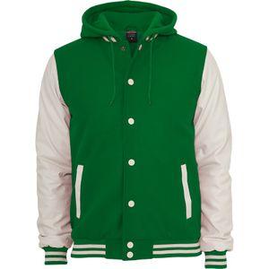 Urban Classics Hooded Oldschool College Jacket, Größe: M; Farbe: C.Green