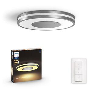 Philips Hue Bluetooth White Ambiance Deckenleuchte Being in Aluminium mit Dimmschalter 348mm