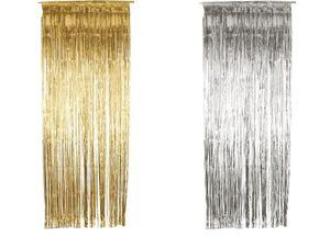 Deko Zubehör Party Dekoration Türvorhang metallic 91x244cm gold