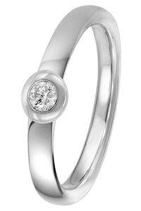 trendor 88391 Silber Diamant-Ring für Damen, 56/17,8
