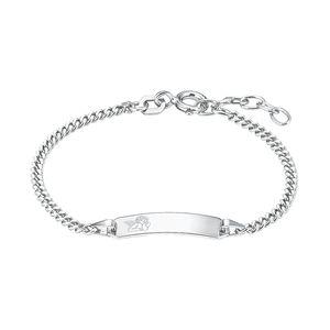 Amor Schmuck Identarmband für Kinder Unisex, Sterling Silber 925, Engel Silber