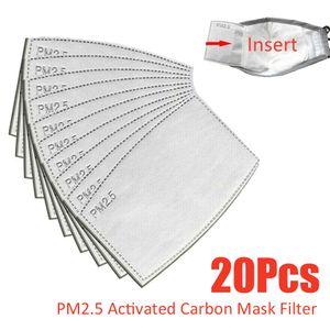20X Maskenfilter PM2.5 Aktivkohle austauschbare Antibeschlagfilter-Schutzmaske