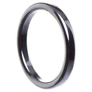 Dünner Ring aus Hämatit 3mm flach grau dunkelgrau schmal schlicht Steinring, Ringgröße:Innenumfang 54mm  Ø17.2mm