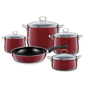 Riess Topfset Emaille Rosso Emailset 5 teilig