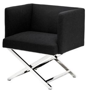 Casa Padrino Luxus Club Sessel in silber / schwarz 66 x 57 x H. 74 cm - Art Deco Möbel