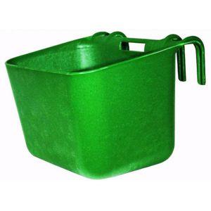 Kunststoff Turnierkrippe Pferdekrippe Fohlenkrippe 30 Liter grün