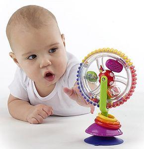 Babyrassel Riesenrad Windmühle Spielzeug Stuhl Kinderwagen Spielzeug mit Saugnapf