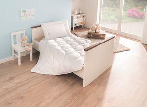 Schiesser Baby- und Kinderbetten Set 2-teilig, Bettdecke 100 x 135 cm, Kopfkissen 40 x 60 cm, Allergiker geeignet,