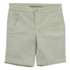 23607 Gang, Cosy,  Damen kurze Jeans Shorts Bermudas, Gabardine Stretch, white, 28W