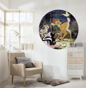 "Komar Vlies Fototapete rund und selbstklebend ""Bambi Butterfly"" - Größe: 128 x 128 cm (Breite x Höhe) - 1 Stück"