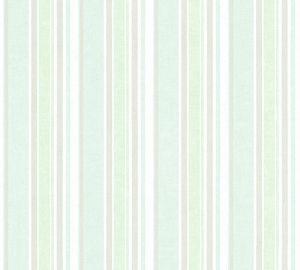 A.S. Création Vliestapete Little Stars Ökotapete grün metallic weiß 10,05 m x 0,53 m 358491 35849-1