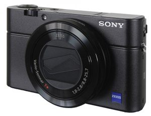 Sony Cyber-Shot DSC-RX100 Mark III Digitalkamera mit WiFi schwarz