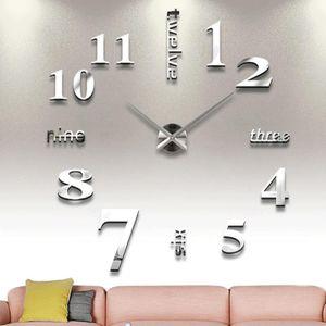 DIY Wand montiert Uhr moderne einzigartige Zahlen Design dekorativ, Splitter