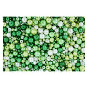 Wachsperlen Grün Mix Ø 4-6-8-10mm - 1kg Großpackung (ca. 3.700 Stück)