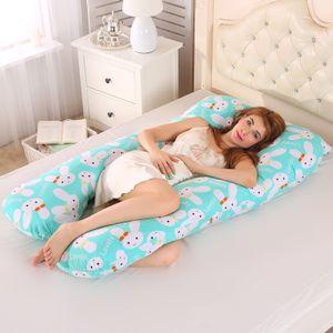 U Form Kopfkissen Stillkissen für Schwangere mit Kissenbezug 60×120 cm, Hase